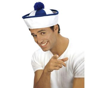 Matrosen Bobbi Hut weiß blau