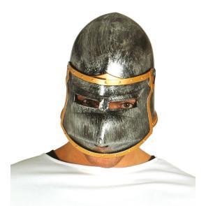 Mittelalterhelm Karneval für Ritter. Turnierhelm mit Visier