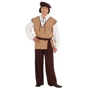 Mann im mittelalterlichen Kostüm Knecht und Gesinde