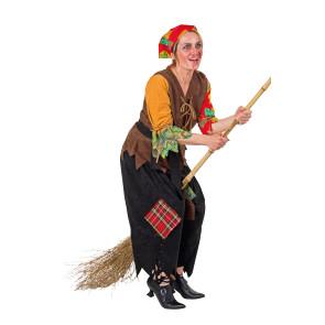 Bild Gruene Hexe mit Hexen Hut