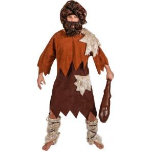 Neandertaler-Kostüm für Steinzeit Menschen