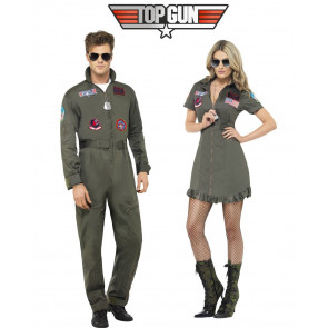 Top Gun Pärchen Filmkostüm. Uniform Fliegerkombi Top Gun