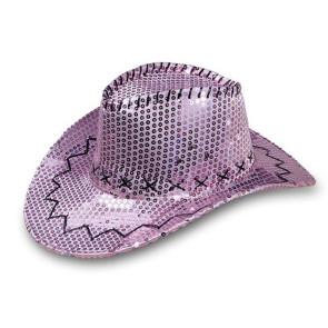 Cowboy Paillettenhut - rosa