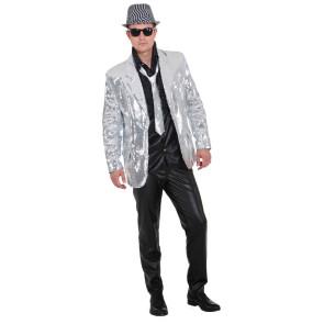 Pailletten-Jacket silber