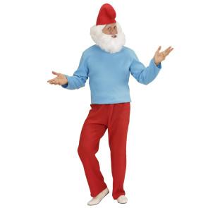 Kostüm Papa Schlumpf wie die Comic Figur aus den Schlümpfen