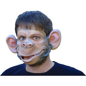 Partymaske 100% Naturlatex, gut anliegend mit Affengesicht.