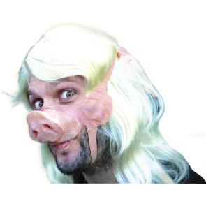 Partymaske 100% Naturlatex, gut anliegend mit Piggy Gesicht Schweinchen