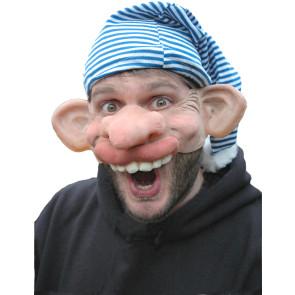 Partymaske 100% Naturlatex mit lustigem Gesicht