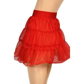 Petticoat rot mit Tüll