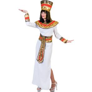 Frau in Cleoparta Kostüm mit Kopfschmuck
