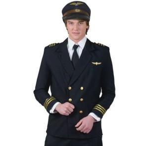 Junger Mann in Uniform Jacke von Pilot