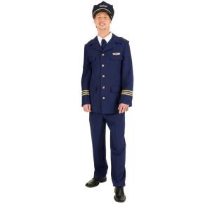Mann in Uniform Pilot Condor mit Mütze und Fliegerbrille