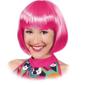 Bop Frisur Pagekopf pink Perücke