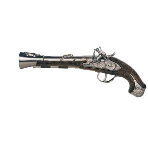 Piratenpistole Steinschloss Waffe historisch aus Metall