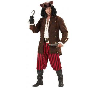Piratenmantel braun mit Goldknöpfen im Leder Look