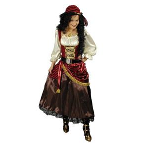 Burleskes Kostüm einer Freibeuterin und Bukanier aus dem 17. Jahrhundert