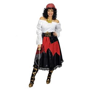 Piraten-Rock mit Gürtel Totenkopf