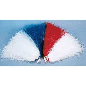 Pom Pons in rot / weiß Cheerleader Puschel