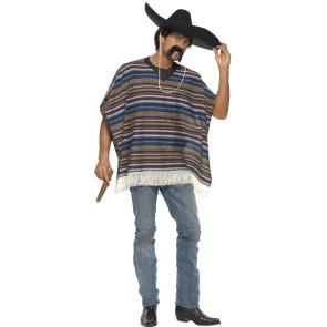 Mexikaner mit Poncho bunt