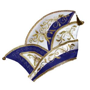 Prinzen Komitee Mütze für Karneval blau - weiss