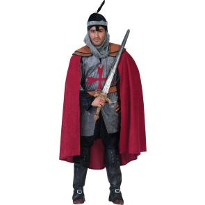 Ritter Ulrich - Mittelalter Ritter Kostüm mit roten Umhang