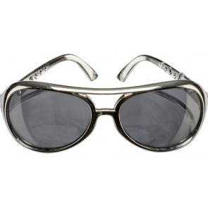50er Brille Rock'n Roll in silber - Rockability