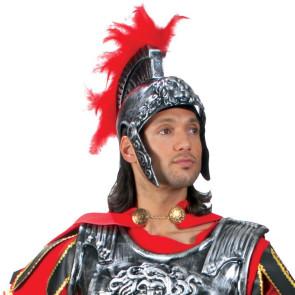Helm Römer in silber mit roten Kamm