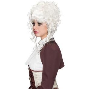 Rokoko Perücke Barock-Lady weiß