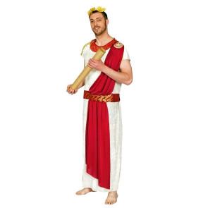 Mann als Feldherr Julius Caesar im römischen Stil verkleidet