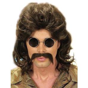 70er Perücke Mann mit Bart