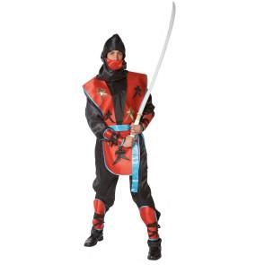 Mann im Samurai Kostüm mit Katana Schwert (nicht inbegriffen)