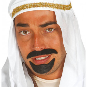Zweiteiliger Bart, selbstklebend für Scheichs, Araber, 1001 Nacht, Südländer