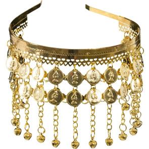 Goldschmuck Haarspange mit Münzen, Glöckchen