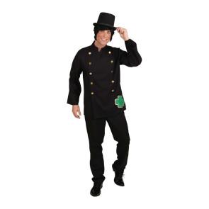 Kostüm Schornsteinfeger in schwarz mit Kleeblatt Kaminkehrer