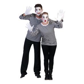 Pantomine Shirt schwarz weiß gestreift