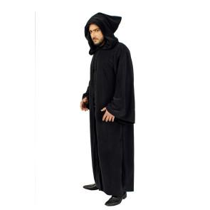 Fantasy Mönch Umhang mit Kapuze schwarz