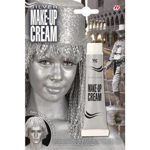 Körper- und Gesicht Make-up mit Silber Effekt