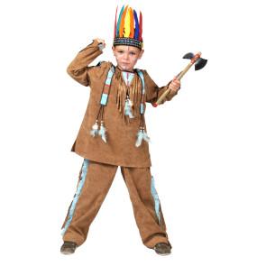 Sioux indianerjunge mit Schürze / Lendenschutz