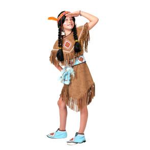 Sioux Indianermädchen mit Gürtel und Überschuhe