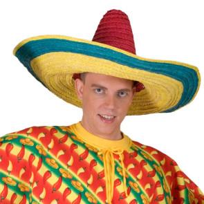 Sombrero Mexiko gelb grün rot