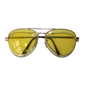 Brille Tropfenform Gläser gelb