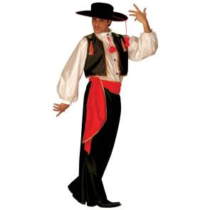 Mann in Tracht andalusischer Flamceno Tänzer als Karnevalskostüm