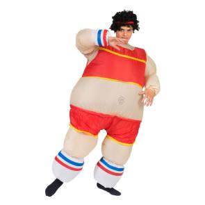 Kostüm zum aufblasen als Sportler