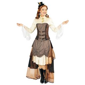 Damen Kostüm Steampunk in braun Tönen