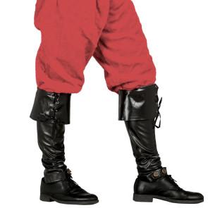 Schwarze Überschuhe als Kostümzubehör