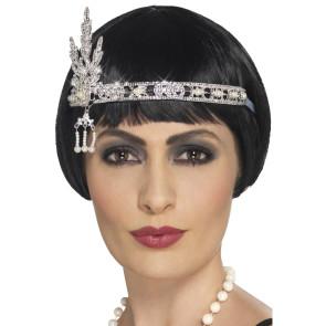 Stirnband 20er Charleston ausgefallen mit Juwelen Imitat