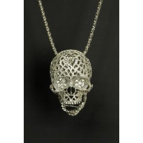 Totenkopf Strass-Halskette