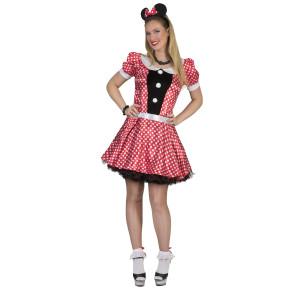 Frau verkleidet im Maus Kostüm