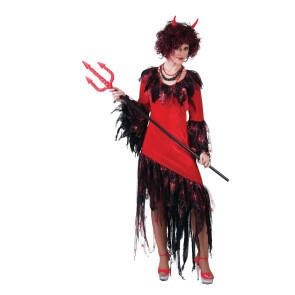 Effektvolles Kostüm Teufel für Damen