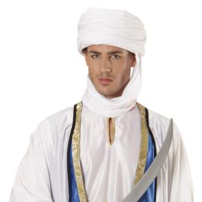 Turban Tuareg, Berber und Araber in weiß